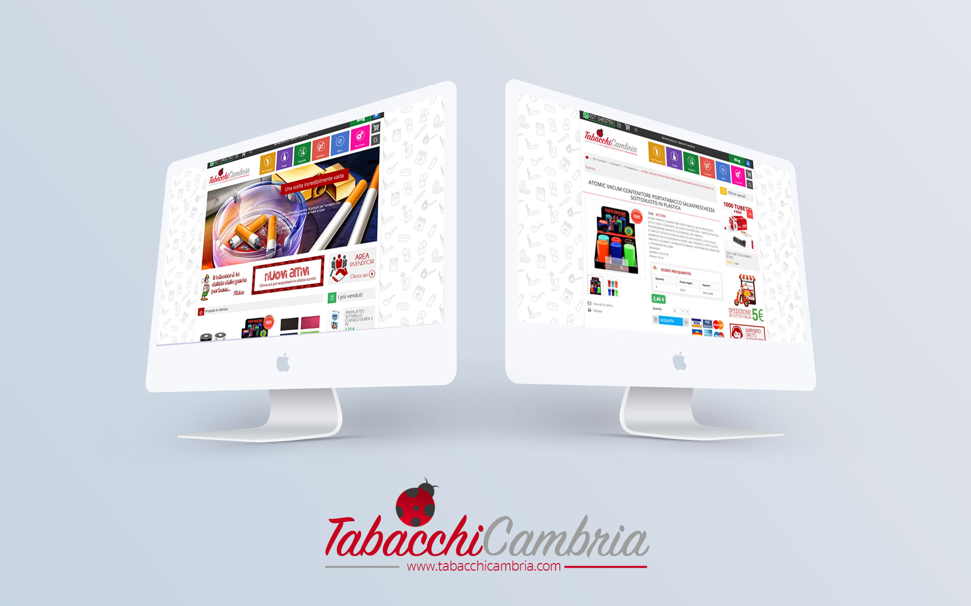 iMac mockup TCambria